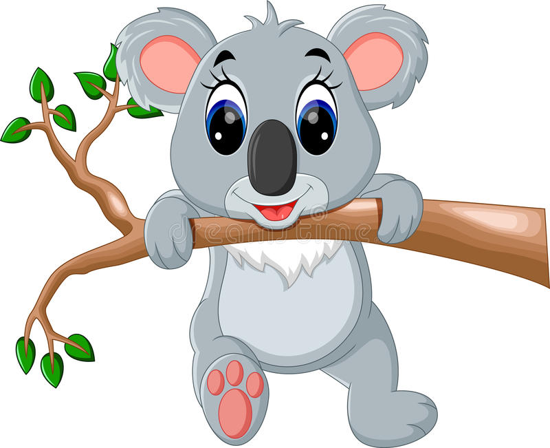 Милый шарж коалы иллюстрация штока