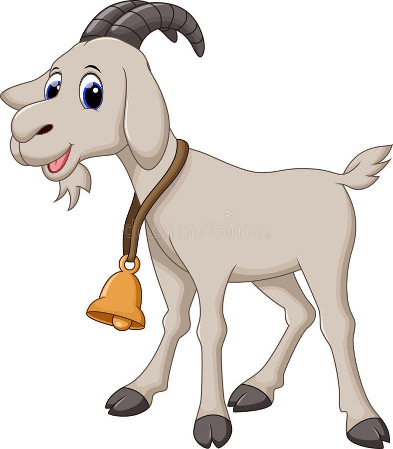 Милый шарж козы стоковые фотографии rf