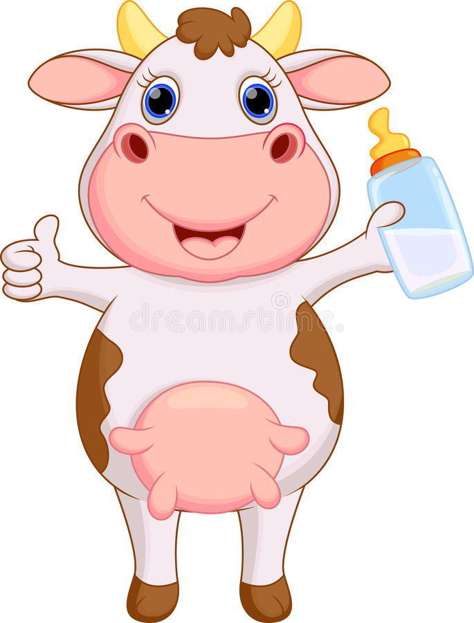 Милый шарж коровы младенца иллюстрация вектора