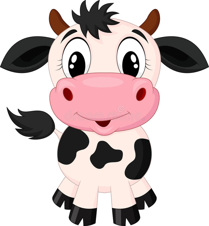 Милый шарж коровы бесплатная иллюстрация