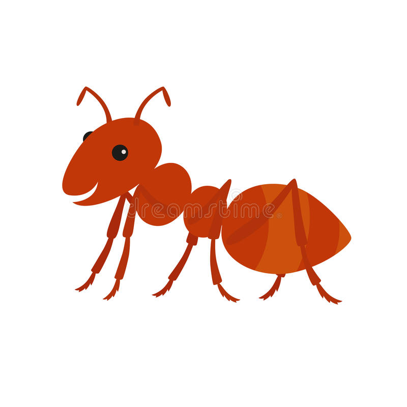 Милый шарж муравея также вектор иллюстрации притяжки corel иллюстрация штока