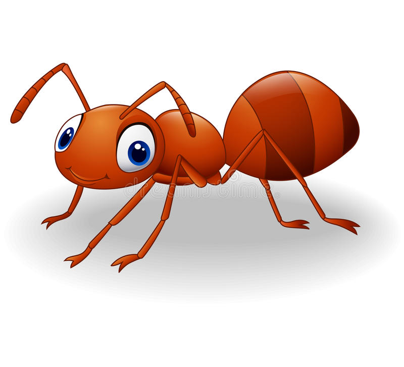 Милый шарж муравея бесплатная иллюстрация