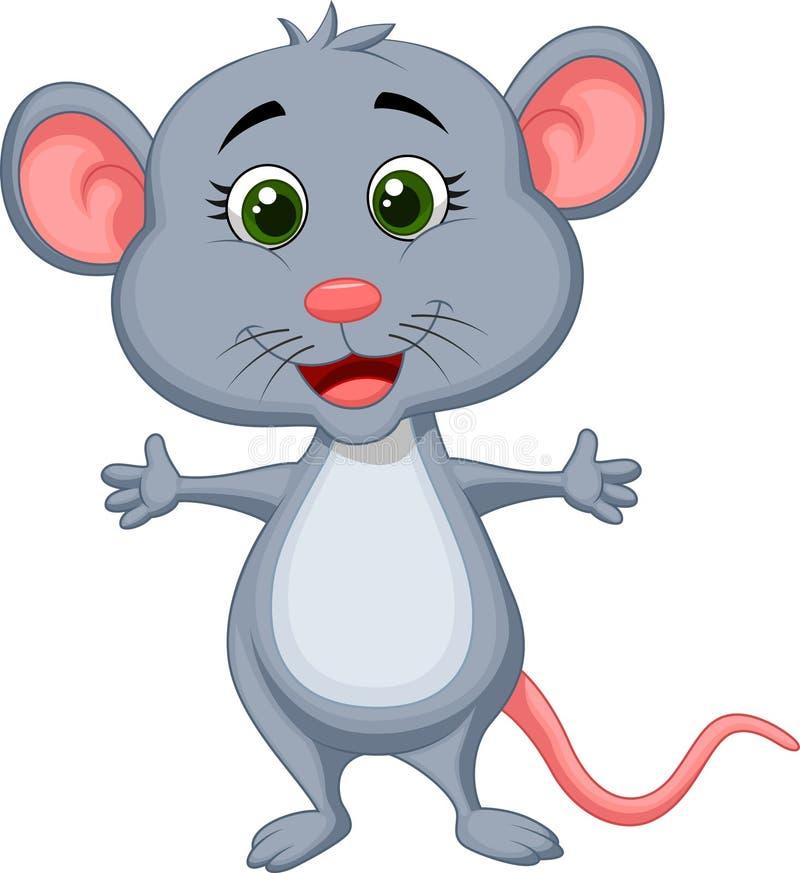 Милый шарж мыши иллюстрация вектора