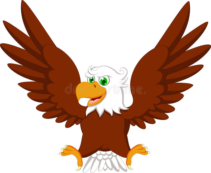Милый шарж орла иллюстрация штока
