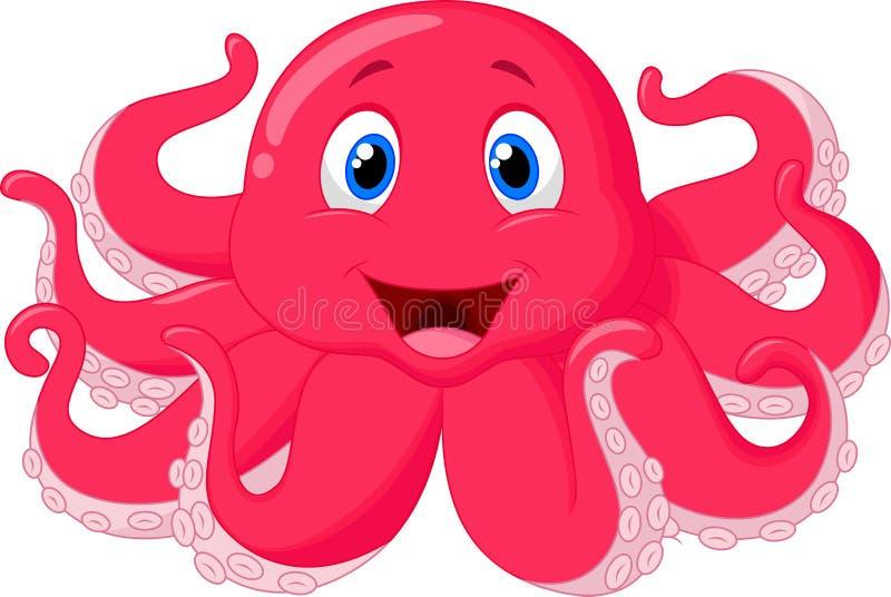 Милый шарж осьминога бесплатная иллюстрация