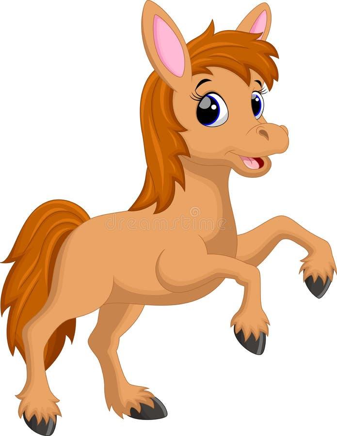 Милый шарж лошади иллюстрация штока