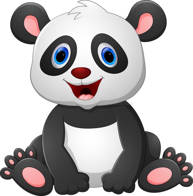 Милый шарж панды младенца иллюстрация вектора