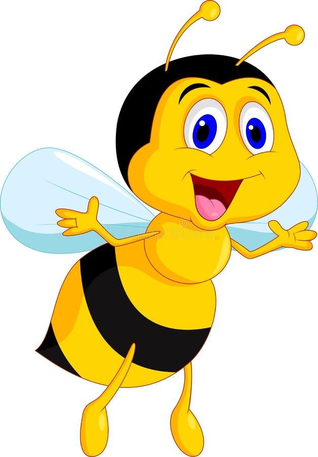 Милый шарж пчелы бесплатная иллюстрация