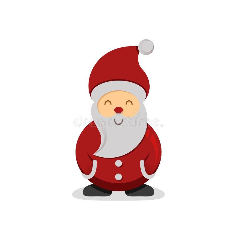 Милый шарж-стиль Санта Клаус белизна вектора акулы иллюстрации предпосылки бесплатная иллюстрация