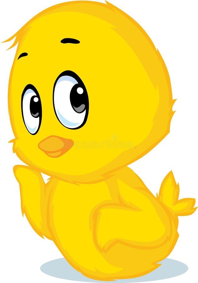 Милый шарж цыпленка - иллюстрация вектора бесплатная иллюстрация