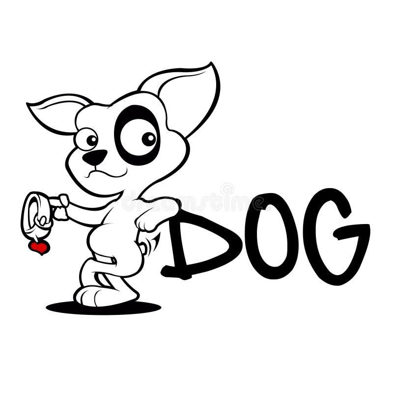 Милый эскиз принятия шаржа собаки бесплатная иллюстрация