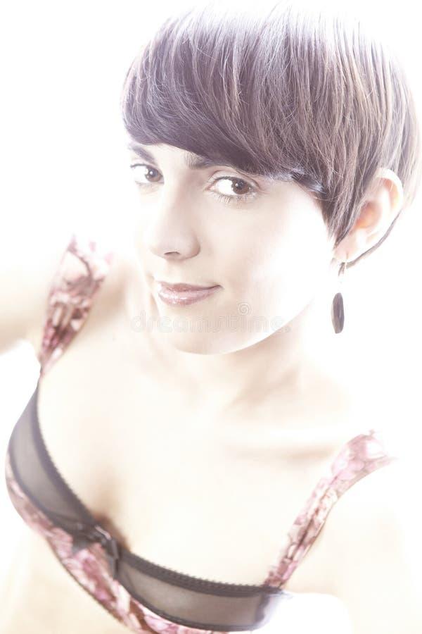 Милый brunete стоковое фото rf