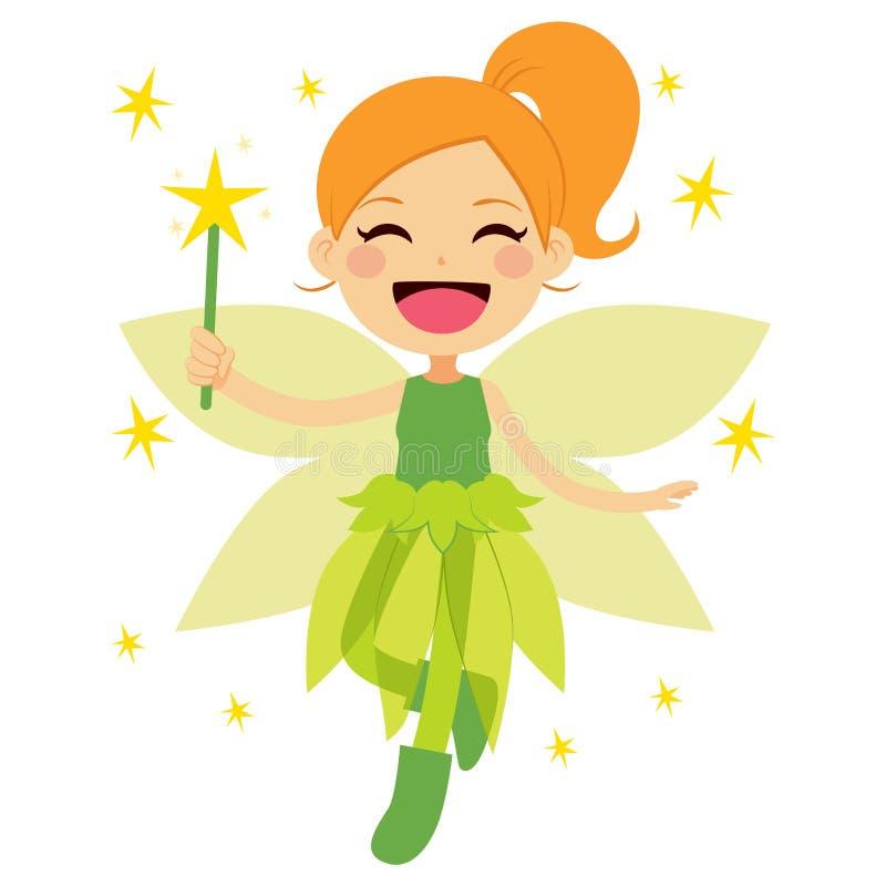 милый fairy зеленый цвет бесплатная иллюстрация