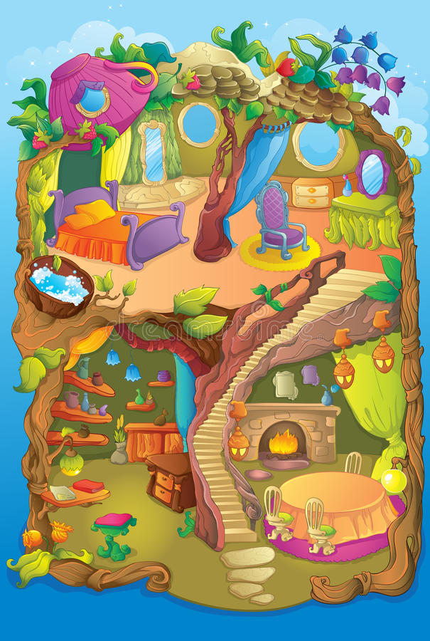 Милый Fairy дом природы бесплатная иллюстрация