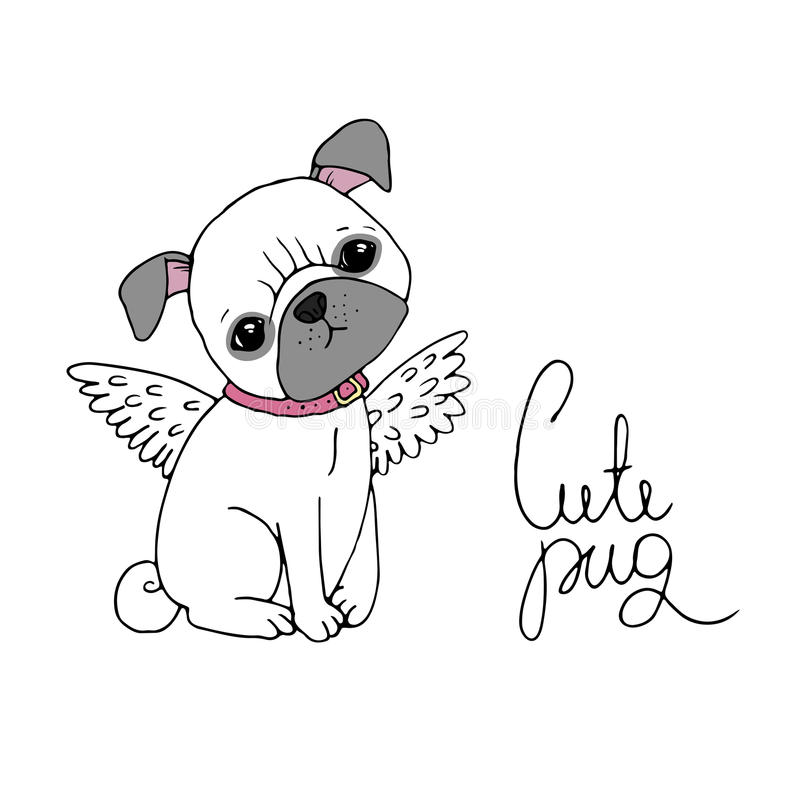 милый pug Собака бесплатная иллюстрация