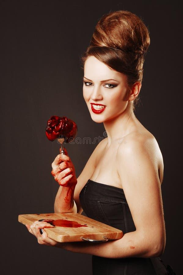 Милый vamp женщины стоковое изображение