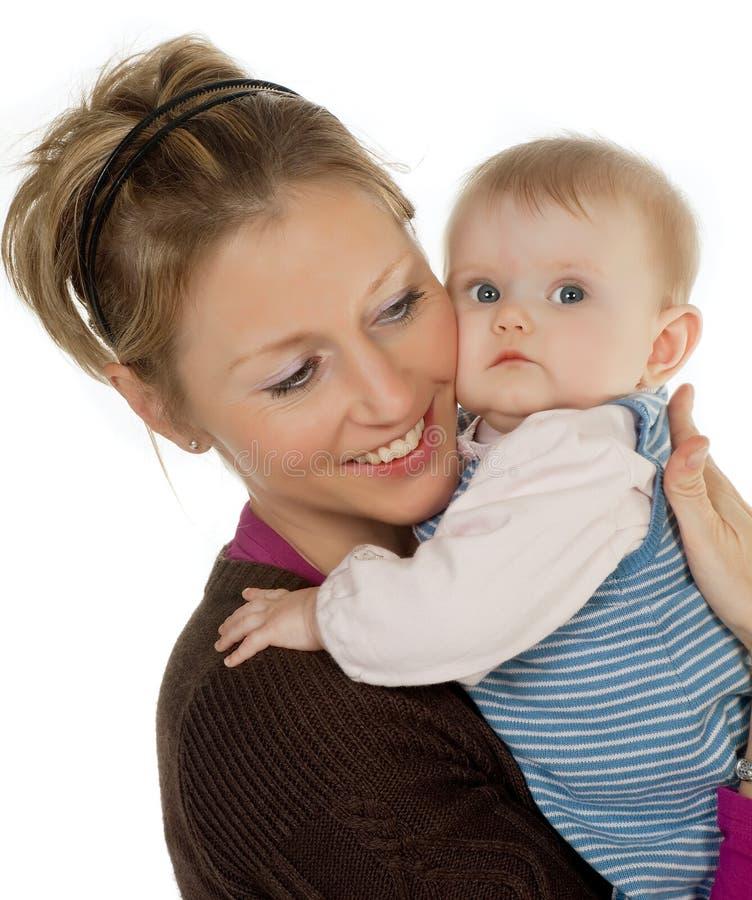 младенец держал мать стоковые фотографии rf