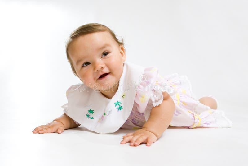 младенец довольно стоковая фотография rf