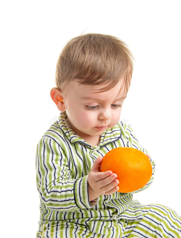 Младенец и помераец стоковое фото