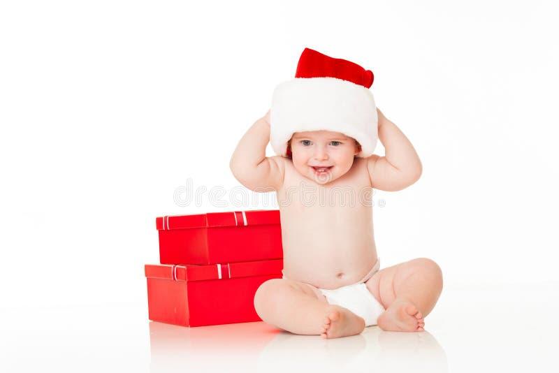 младенец милый santa стоковое изображение