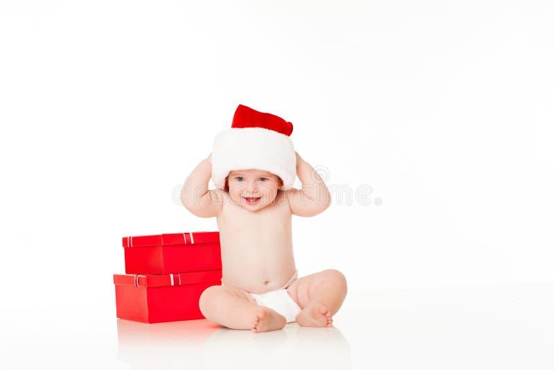 младенец милый santa стоковые изображения