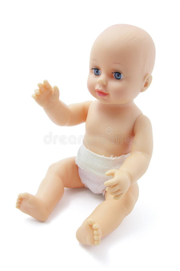 младенец - пластмасса куклы стоковая фотография rf