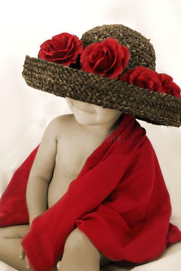 младенец поднял стоковая фотография rf
