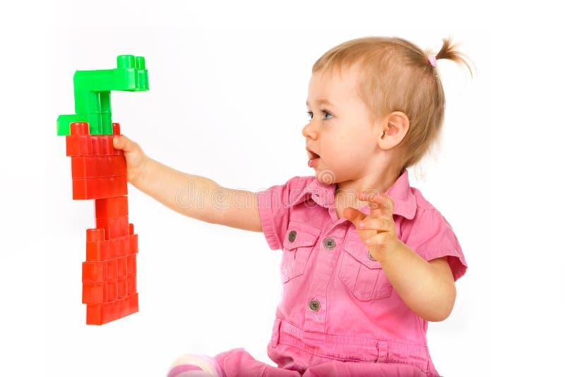 младенец преграждает девушку стоковое изображение