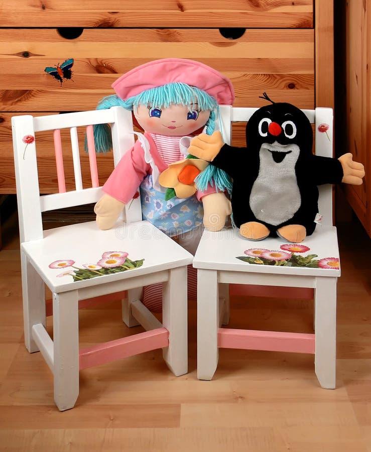 младенец предводительствует куклы стоковое изображение