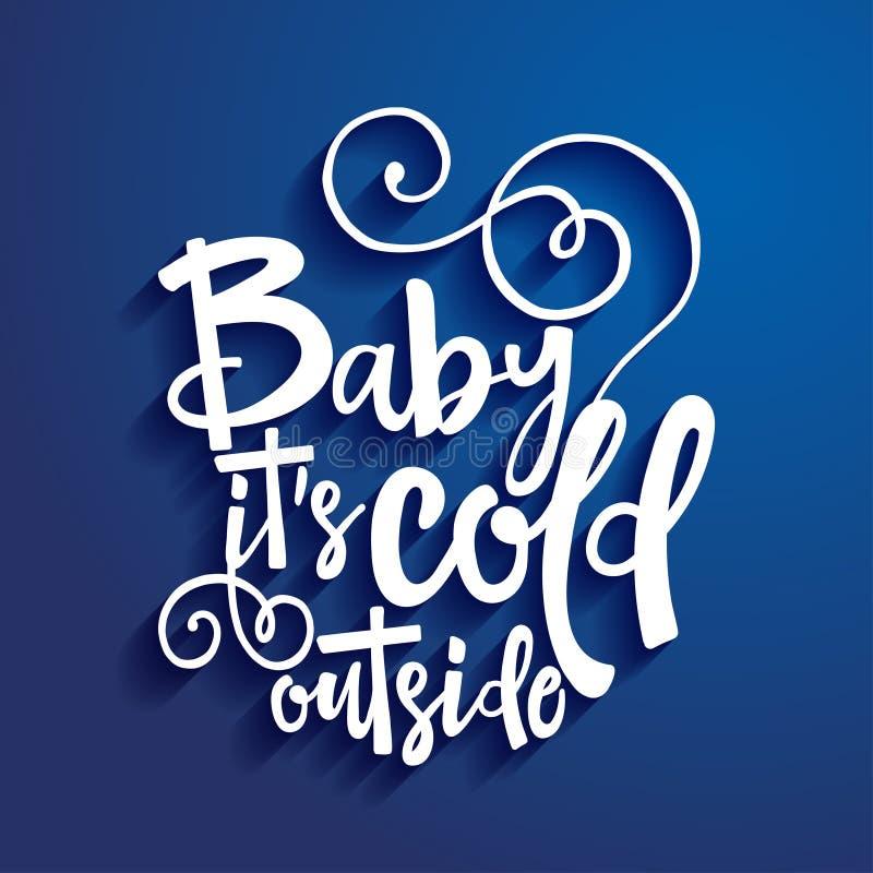 Младенец свое холодное снаружи бесплатная иллюстрация