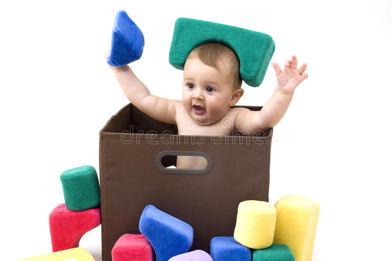 младенец смешной стоковое изображение