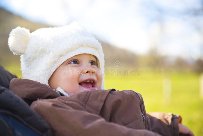 младенец счастливый стоковые фото