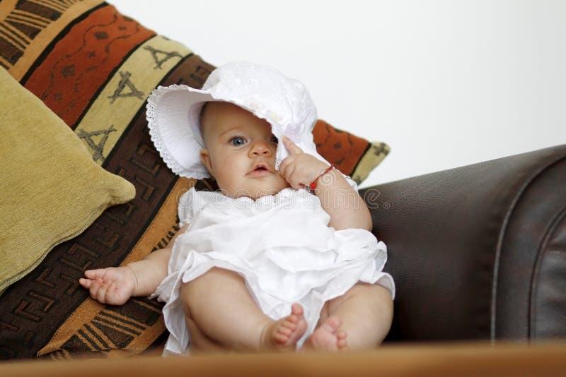 младенец шлема кресла стоковое фото