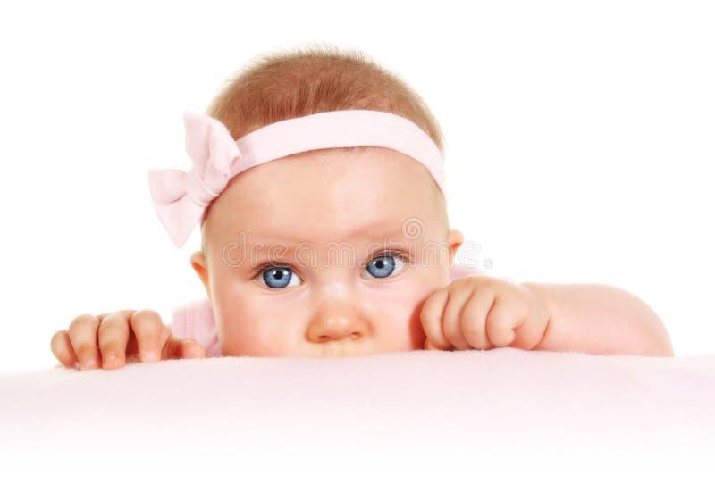младенец 5 месяцев старого портрета стоковое изображение rf
