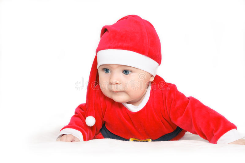 младенец claus santa стоковое фото rf