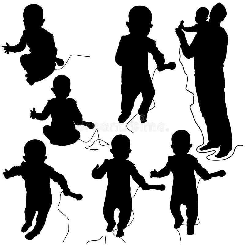 младенец dj иллюстрация вектора