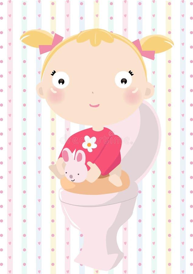 младенец potty иллюстрация штока