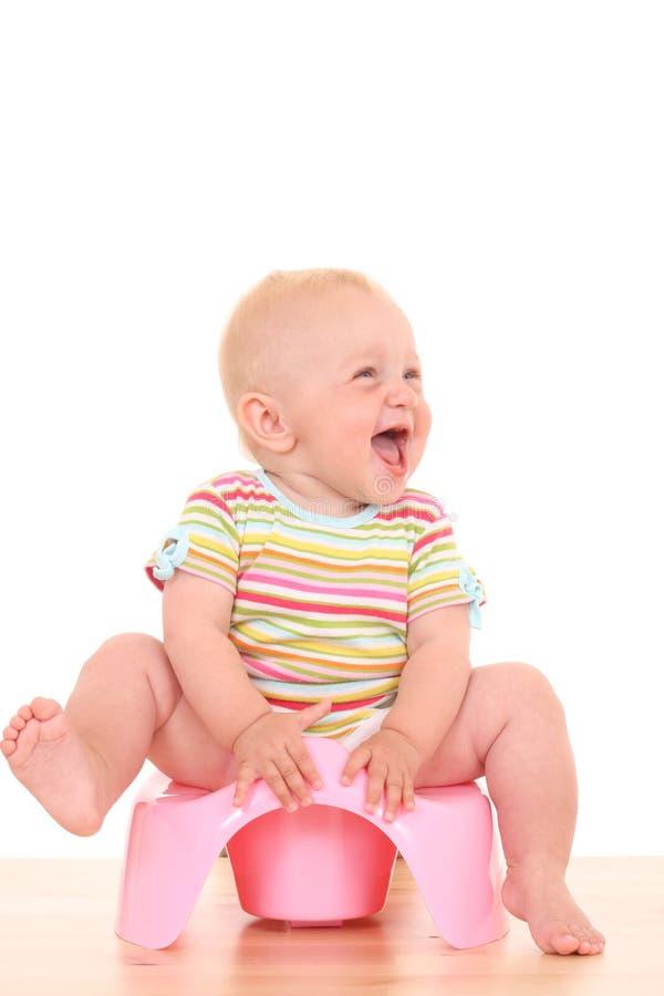 младенец potty стоковое изображение rf