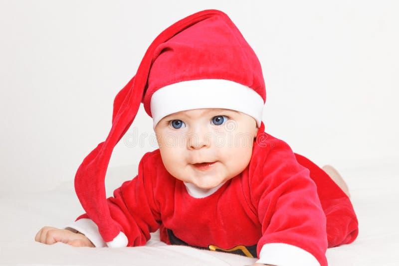 Младенец Santa Claus стоковая фотография rf