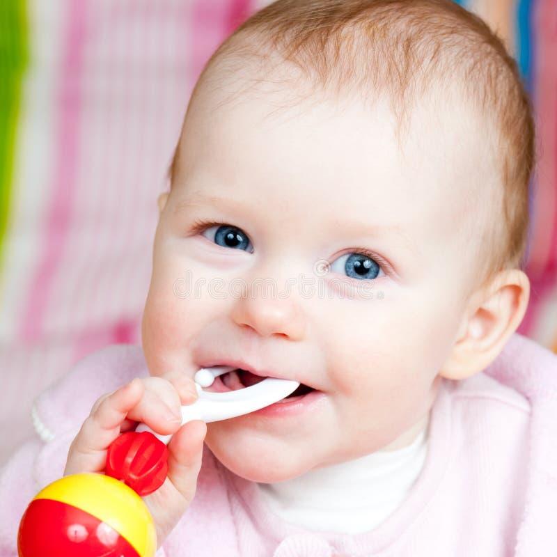 младенческая трещотка стоковое фото rf