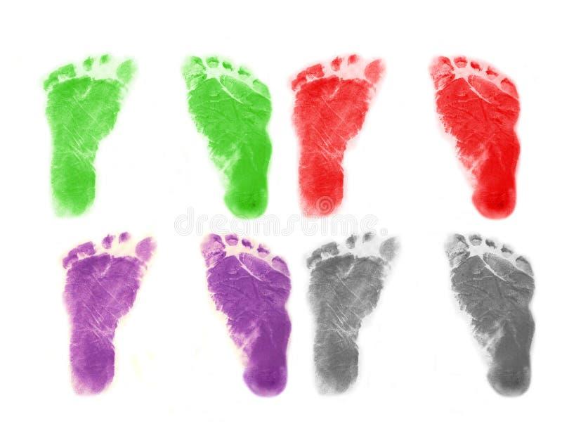 Младенческие следы ноги стоковые фото
