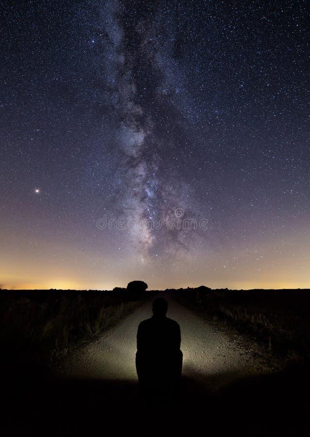 Млечный путь на летнем дне стоковые фото