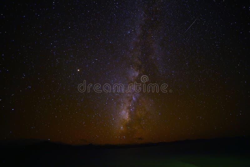 Млечный путь озера Pumoyongcuo стоковые фото