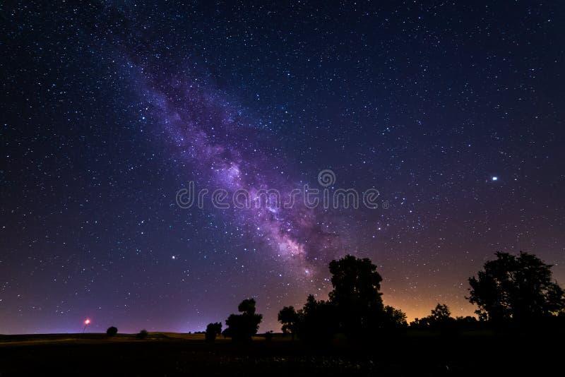 Млечный путь около Мадрида, Испании стоковые изображения rf