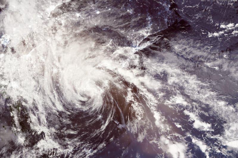 Мнимый ураган коллажа над США стоковые фото