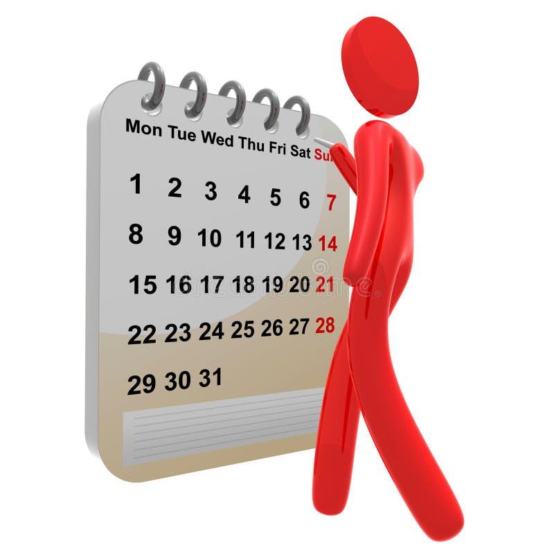 многодельный план-график pictogram иконы календара 3d иллюстрация штока