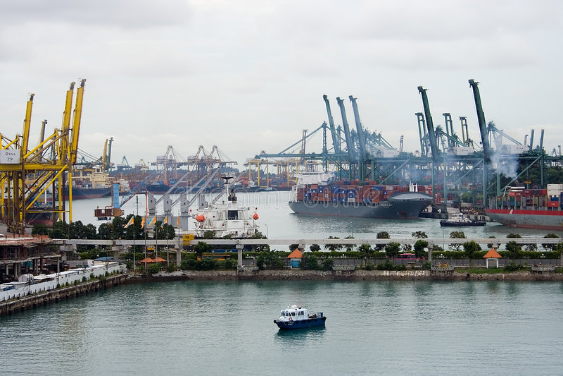 многодельный порт стоковое фото