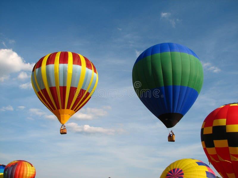 многократная цепь воздушных шаров горячая стоковые фото