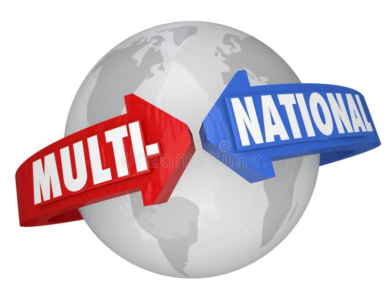 Многонациональная корпорация Международн Дело Торговать Корпорация иллюстрация вектора