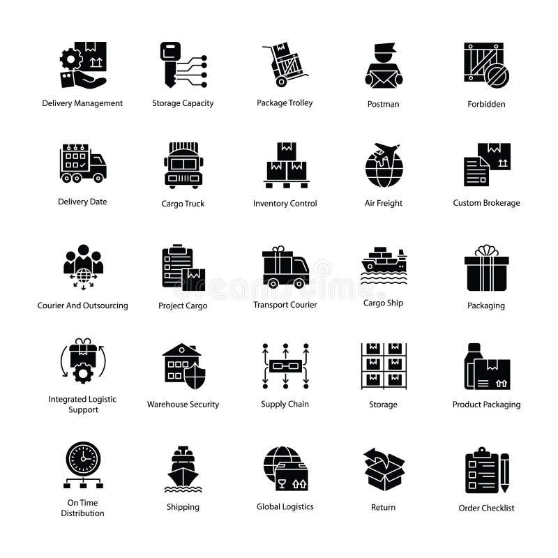 Многоплодные значки поставки снабжения бесплатная иллюстрация